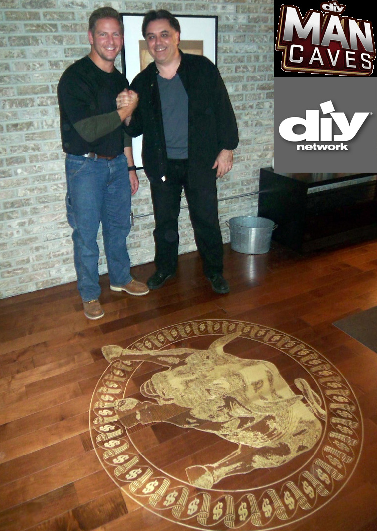 Man Caves Diy Network Wall Art Floor Art Wood