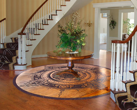 Prefinished Wood Flooring Designs Carving Engraving