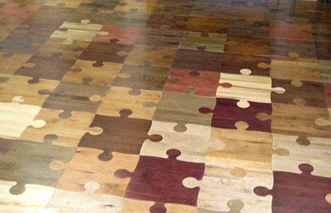 Puzzle wood floor wood parquet wood tile puzzle floor for Wood floor pieces